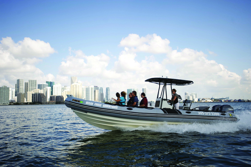 Ocean Force Adventures boat tour Miami
