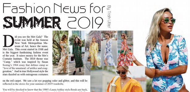 Fashion News for Summer 2019